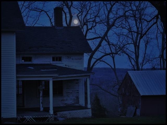 Full moon, April, Bridgewater, Connecticut © Steven Willard