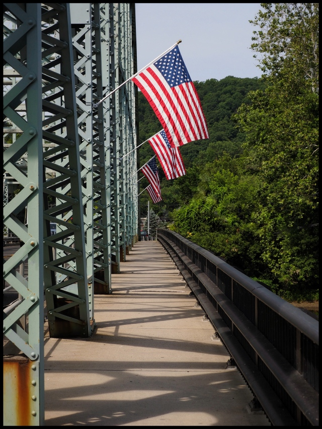 Flags over the Housatonic, new Milford, Connecticut © Steven Willard